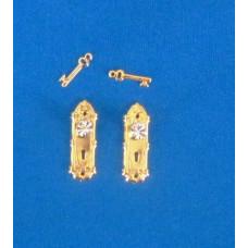 A02 Klassieke deurschilden met diamanten knop