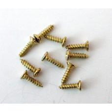 A50 Metalen schroef geel verzinkt met kruiskop