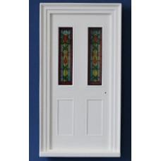 """K08A Kunststof deurkozijn incl. afgebeeld """"glas in lood"""""""