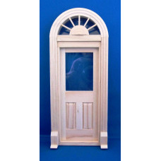 K38 Half rond kozijn met enkele deur