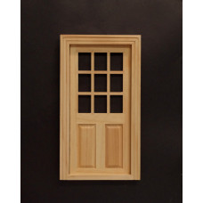 K56 Laag deurkozijn met glasvak / kruisroeden