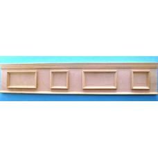 A80 Lambrizering met opgelegde panelen