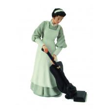 Dienstmeisje met stofzuiger