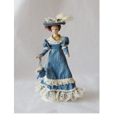 Victorian Lady Blue dress / blauwe jurk