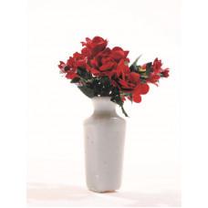 Rode rozen met alstroemeria
