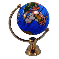 A45 Globe in koperen standaard