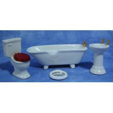 M99 4-delige wit porceleinen badkamerset