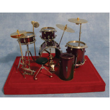 P68 10-delig rood drumstel op zwart tableau