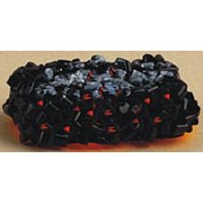 """L17 Openhaard kolen met """"vuur"""""""